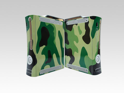 Xbox 360 Skins Decals-Xbox 360 Army skin decals with sticker application kit