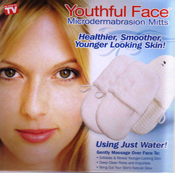 Youthful Face Microdermabrasion Mitts