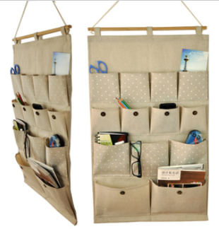 Over the door organizer with multiple pockets