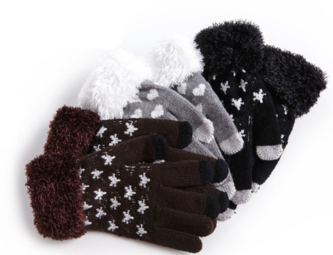 Sensitive Knit Winter Touch Gloves For Capacitive Touch Screen