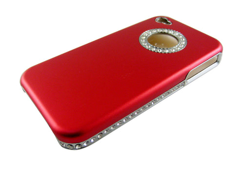 Border diamond camber hard case for Iphone 4 & 4 S