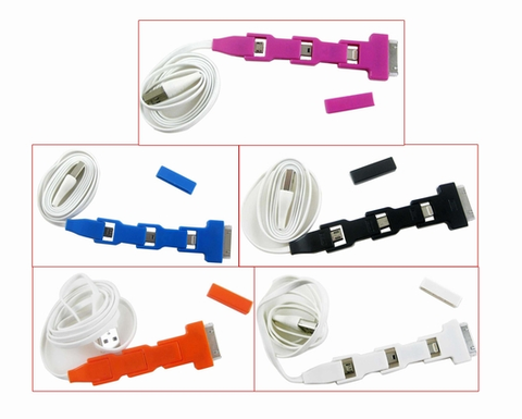 Mobile 3 in 1 Sync Cable, Power Range USB Micro Iphone Connectors