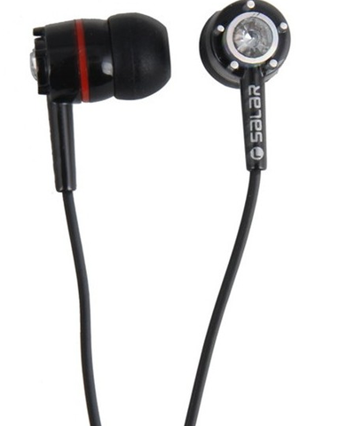 Earbuds with Swarovski Elements and Hands Free Microphone Mic Earphones SALAR