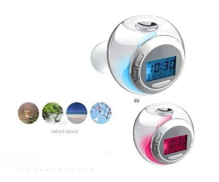 2 x TWO Luminous LED Glow Alarm Clock with natural Sounds