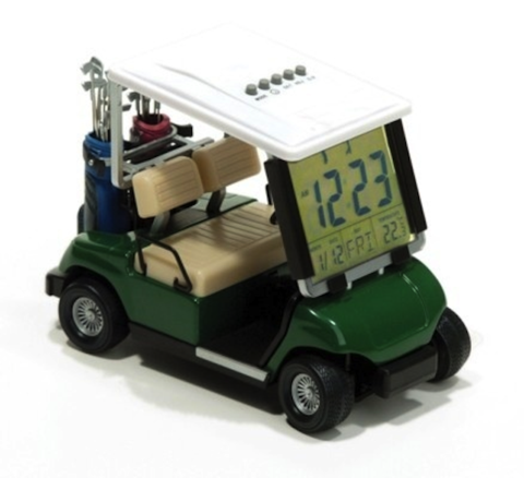 Mini Golf Cart Buggy Alarm Clock Thermometer