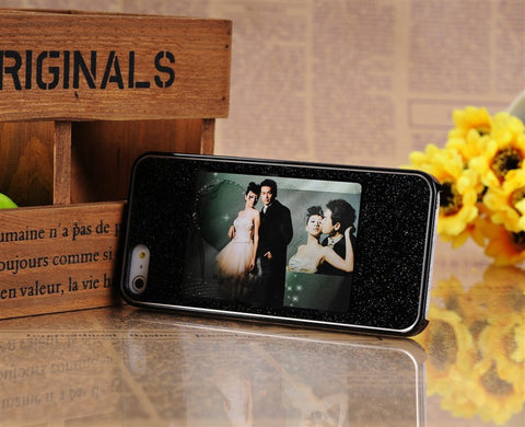 High quality noctilucent shining photo frame case for iPhone 5