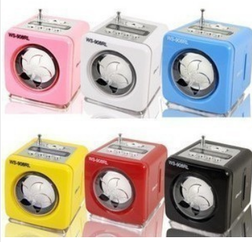 Mini MP3 player audio speaker with FM radio with LED