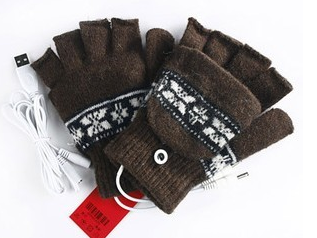 USB Powered Hand Warmers Gloves