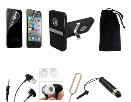 All in One iPhone 4 4S Accessory Bundle Kit