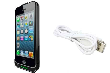 Slim iPhone 5 power case charger bank