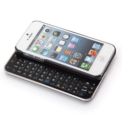 Sliding Bluetooth Wireless Keyboard keypad Case cover for iPhone 5 5G