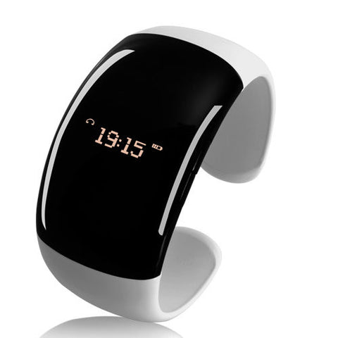 Stylish Ladies Cuff Bracelet With Digital Watch Bluetooth