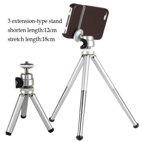 Leather case with tripod stand for iPhone 4/4S