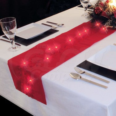 Decorative LED Lights Table Runner Festive Christmas Tablecloth