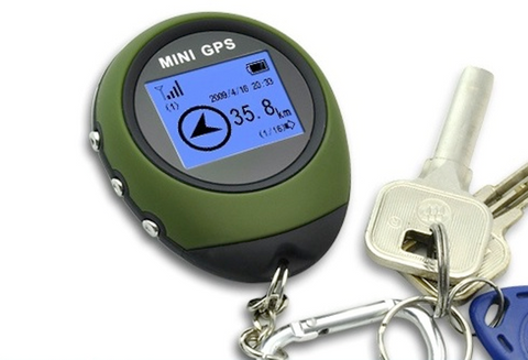 Keychain Outdoor Mini GPS Receiver