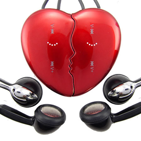 Fashionable Lover's Heart Shape MP3 Player