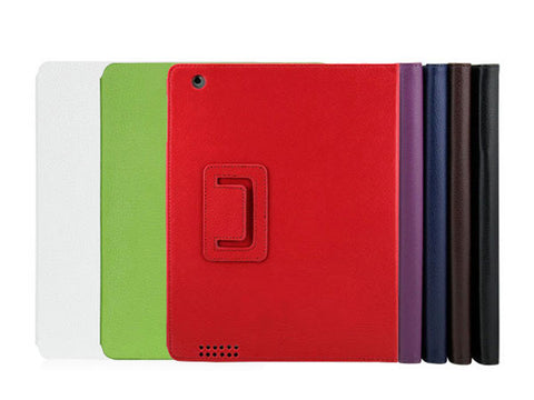 Litchi Pattern Faux Leather Stand Case Cover Bag for iPad 3 (The New iPad)
