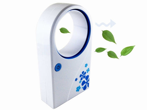 USB Battery Operated Electric Mini Bladeless Hand Fan Air Conditioner
