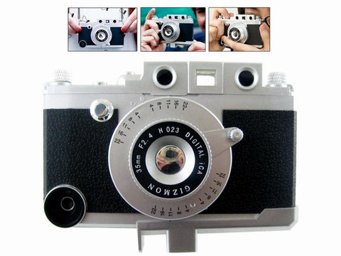 Black Retro Camera 3D Hard Plastic Case Cover Shell for iPhone 4 4G 4S
