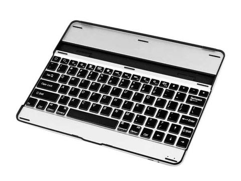 Aluminium Wireless Bluetooth 3.0 Keyboard Cover Case Stand for iPad 2 and NEW iPad