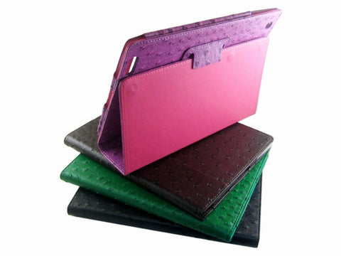 Ostrich Leather Effect Case Cover Skin for Apple iPad 2 3