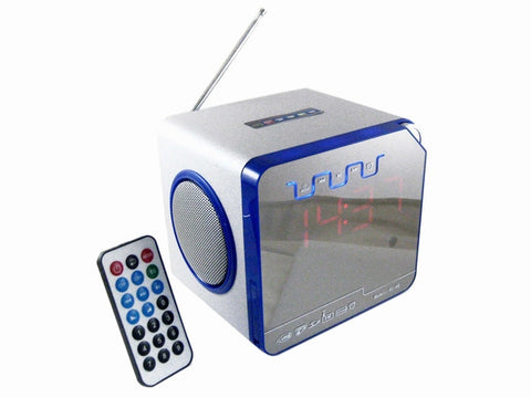 LED Display Desk Speaker FM Radio with Remote Control