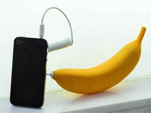 3.5mm Universal Banana Mobile Phone Handset for iPhone 5 4S 4 Samsung Galaxy S3