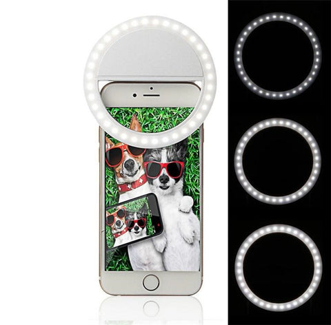 Selfie Perfect Dimmable Smartphone LED Ring Light for Iphone Samsung