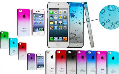 Fading Color Rain Drop Style Hard Case for iphone 4