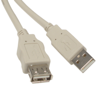 White USB Cable 5 Meters A/A