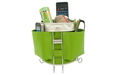 Luxorious multifunctional basket gadget organizer with pockets