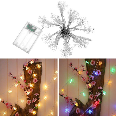 Snowflake LED String Indoor Fairy Garland Lights 3M