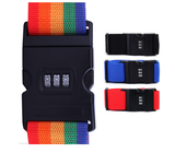 3-Digit Combination Lock Luggage Belt Strap with Label Tag