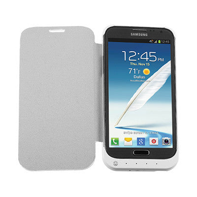 Extended Backup Battery Flip Case For Samsung Galaxy Note II 2 / 3200mAh