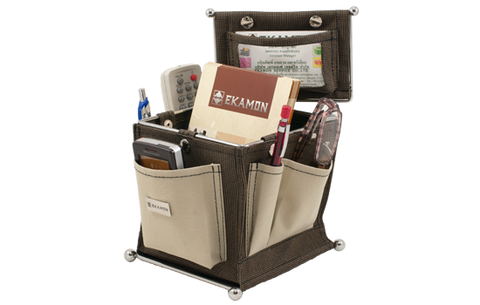 Modern Organizer Gadget Desktop Basket with pouches for home or office