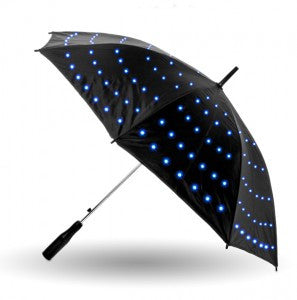 Starry Sky Optical LED Glow Twilight Umbrella