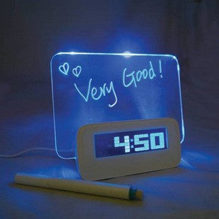USB hub (4 ports) LCD digital alarm clock with message board
