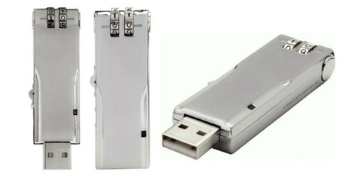 Flash Secure USB Memory Stick with Combination Code Lock