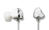 Crystal Diamond Ear Drops Heart Earphones
