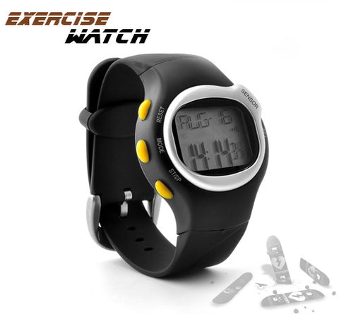 Sports Exercise Watch with Pulse + Calorie Reader + Stopper Watch