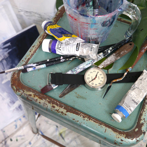 art equipment and watch