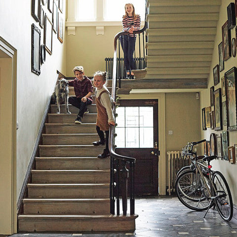 Jim and Chloe staircase