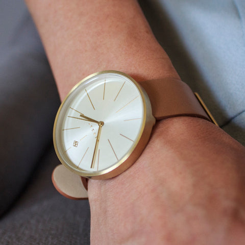 Tan leather watch The New York by Newgate watches