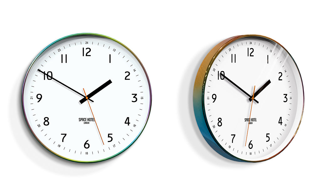 Unusual Wall Clocks - Space Hotel - Iridescent Wall Clock Home Accessories