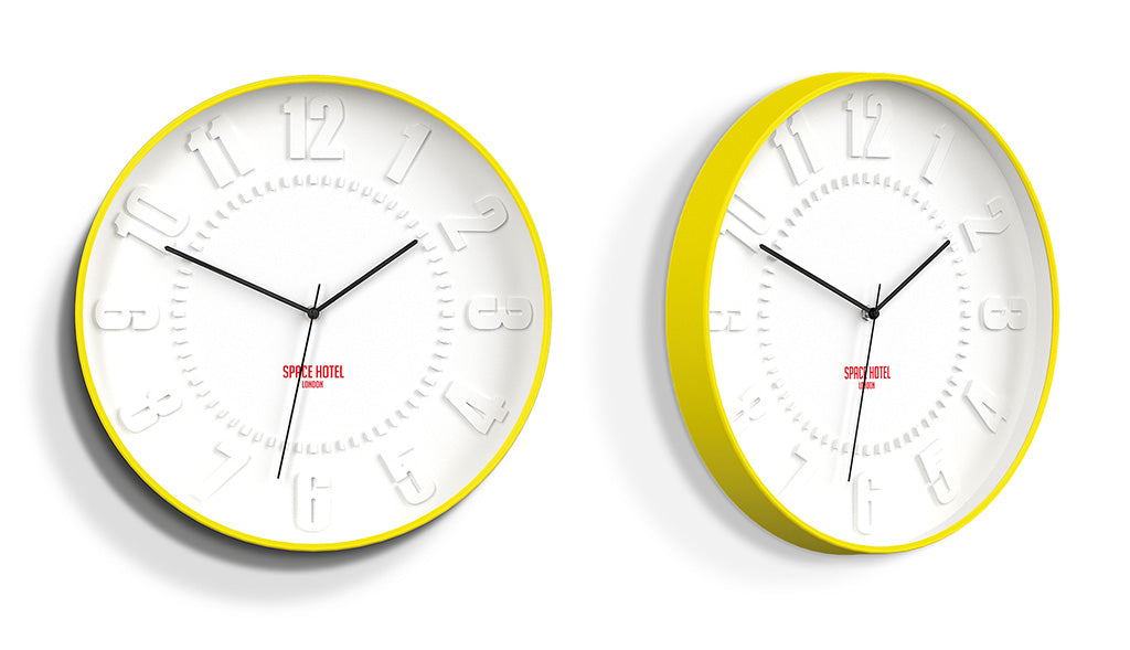 Unusual Wall Clocks - Space Hotel - 3D Dial