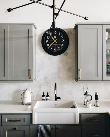 Black Kitchen Clock - Newgate Clocks