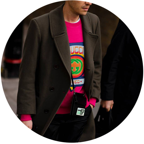 mens LFW SS19 Robert Spangle colour trend vogue Newgate watches -circular