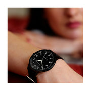 Black-on-Black Leather Watch - Men's Women's - British Design - Newgate Blip WWMBLPBK055LK (wrist wear) 2