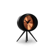 Black Copper Alarm Clock - Modern Podium - Space Hotel Landing Craft SH-LAND-C1-SK skew