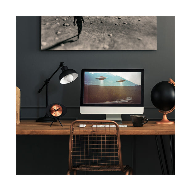 Black Copper Alarm Clock - Modern Podium - Space Hotel Landing Craft SH-LAND-C1-SK lifestyle